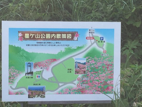 Hoshigayama Park Satsuki no sato : 公園内案内板