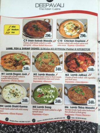Deepavali Indian Restaurant - Bangtao Place: La carta ideal para los novatos como yo!