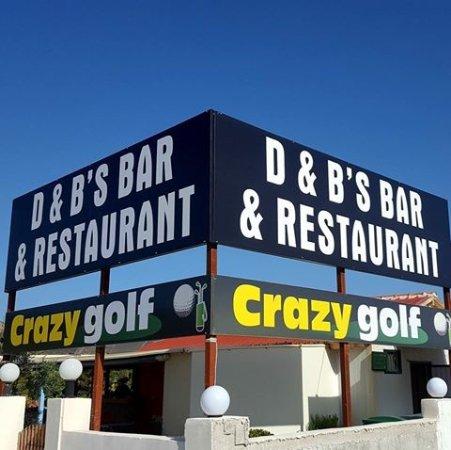 D & B's Bar & Restaurant: our new sighn
