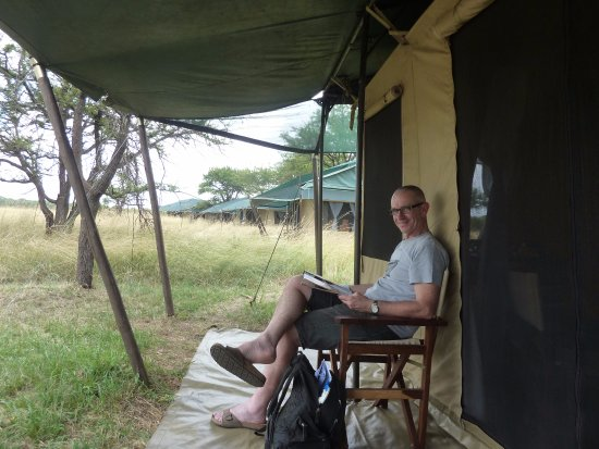 Mara Under Canvas Tented Camp: Outside tent - closest to the dining room