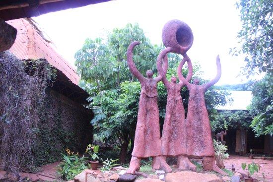 Nrityagram Tour : sculptures