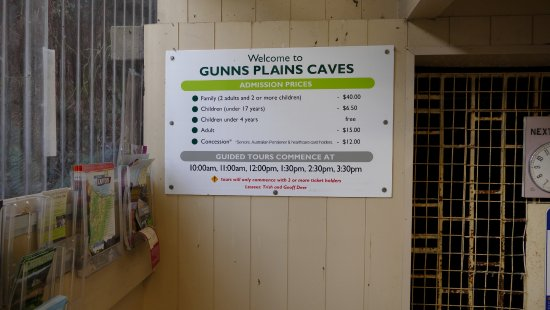 Gunns Plains, Australien: The prices and times