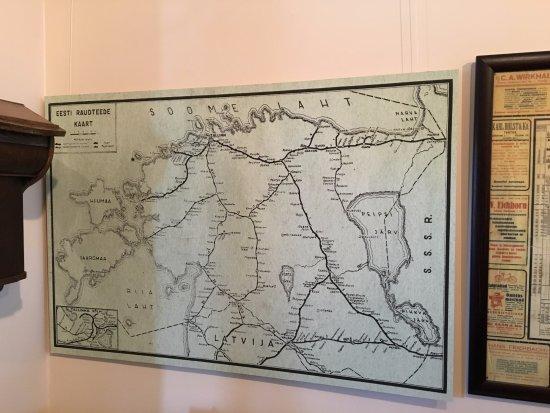 Kartta Viron Rautatieverkostosta 1930 Luvulla Picture Of
