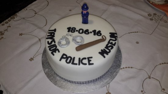 Kirriemuir, UK: Museum's Official Opening Day Cake baked and decorated by Sgt Lynne Gray