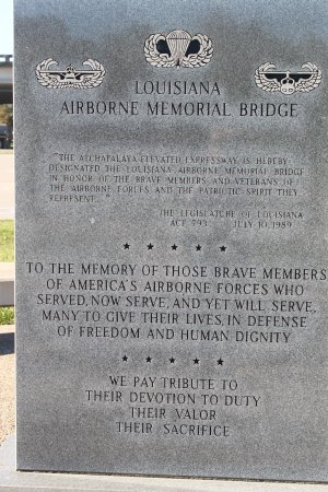 Louisiana Airborne Memorial Bridge and Monument
