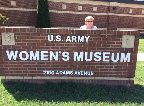 Fort Lee, VA: Myself at the Museum, for girls/women like me who served!