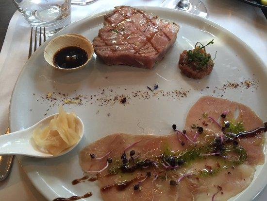 Ristorante Vivarium: Dreierlei vom Thunfisch