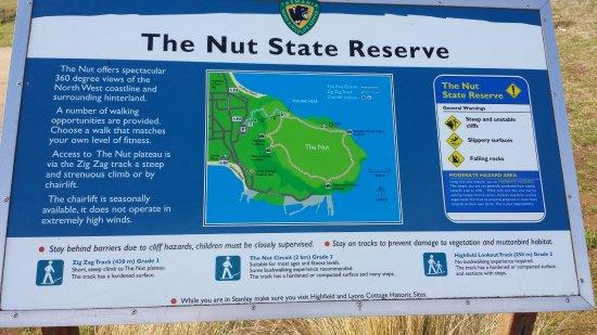 Stanley, Australia: The billboard showing the walking tracks