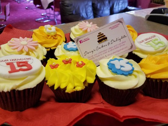 Rossendale, UK: Cupcakes to celebrate Sun Dragon's 15th Birthday
