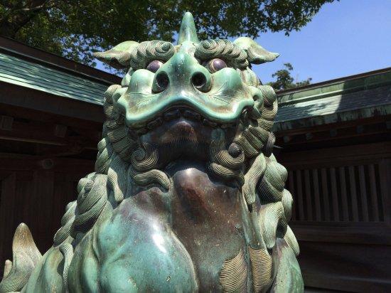 Munakata, Japon : 狛犬 吽
