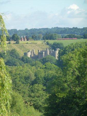 Ewhurst Green, UK: View from our room. (Bodiam Castle)
