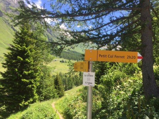 La Fouly, Ελβετία: Vue sur le village de Ferret