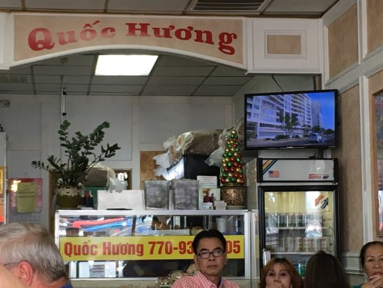 Quoc Huong Banh Mi Fast Food: It's the best Bahn Mi in Atlanta hands down.  Cash only and always crowded.  It offers a full me