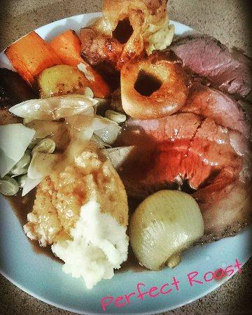 Knighton, UK: Sunday beef roast coming soon....