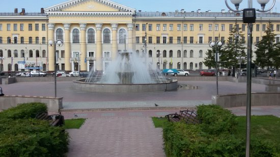Fountain at Novosobornaya Square