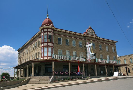 The historic Graves Hotel in Harlowton MT