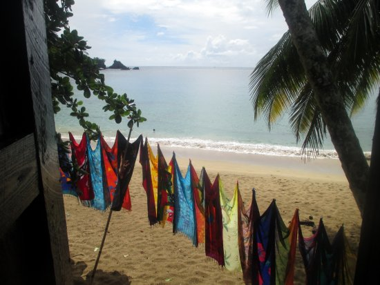 Charlotteville, Tobago: View from the 2nd level of Eula's - very nice to eat and see this view