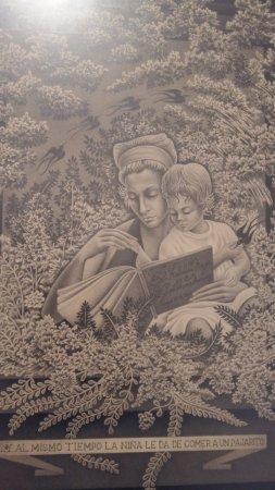 Tlaxcala, México: Una de las obras en exposición el día que visite el museo, lamentablemente no recuerdo el autor