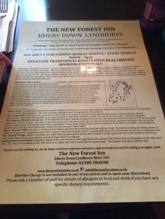 Emery Down, UK: The New Forest Inn