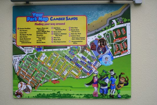 Camber Sands Map Map.   Picture of Pontin's Camber Sands Centre, Camber   TripAdvisor