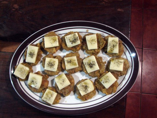 Balgue, Nicaragua: tostones con mozzarella