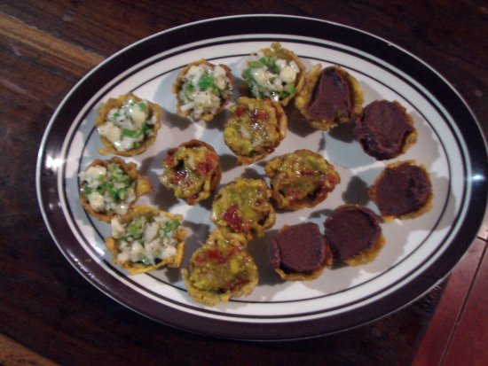 Balgue, Nicaragua: tostones rellenos