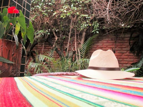 Casa Flores: Private outdoor seating for our room