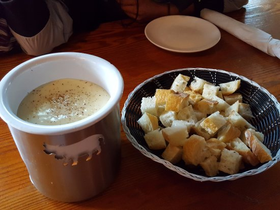 Gudrun: Our fave...warm cheese fondue