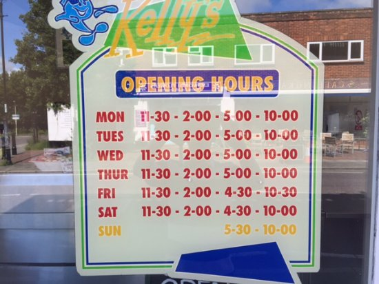 Mother Kelly's: Opening times
