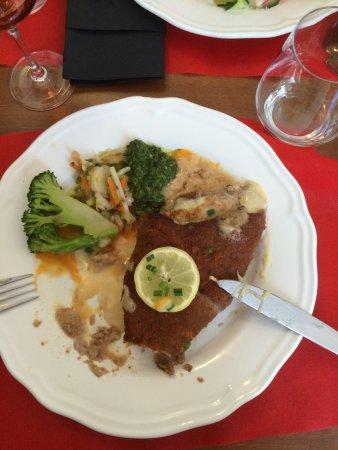 Bierstub d'Eselbahn : Cordon Bleu de veau au Munster ( frites à part )