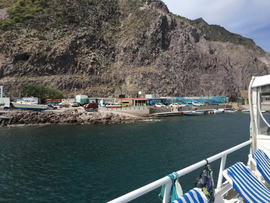 A view of Fort Bay from our liveaboard ship