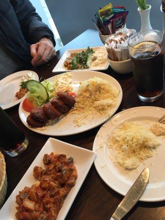 Pasha: falafel and various salads