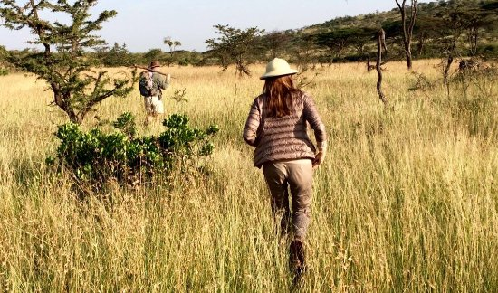 TrueAfrica - The Safari Company Day Tours: Fly Camp safari bound- on our walk to the campsite with an incredible guide.