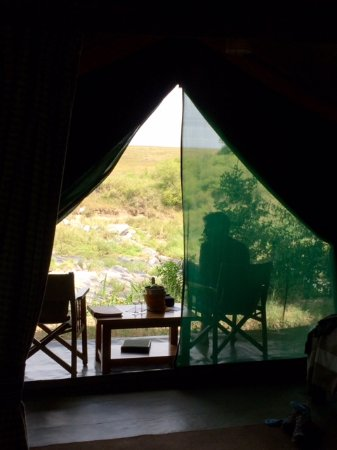 TrueAfrica - The Safari Company Day Tours: Our view and a chilled bottle of wine waiting.