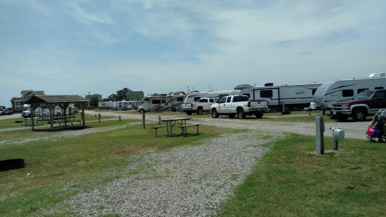 Cape Hatteras KOA Resort: SIZE OF SITES