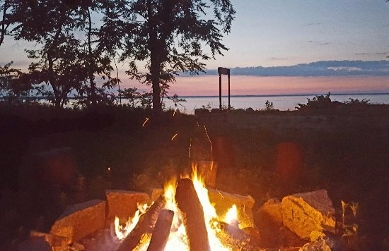 Chestertown, MD: Bonfire by the bay