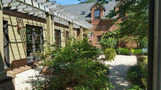Chestertown, MD: Courtyard area, view from The Sterling Room French Doors