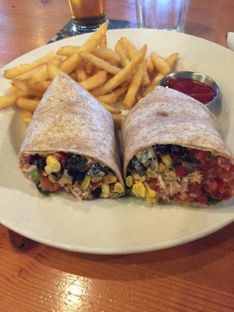 Craig Street Brew Pub : Potatoe Leek soup and the MexicanCorn/Black Bean Wrap