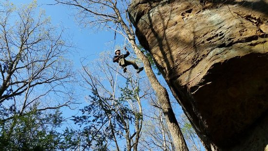 Rockbridge, OH: Rappel the Hocking Hills at High Rock.