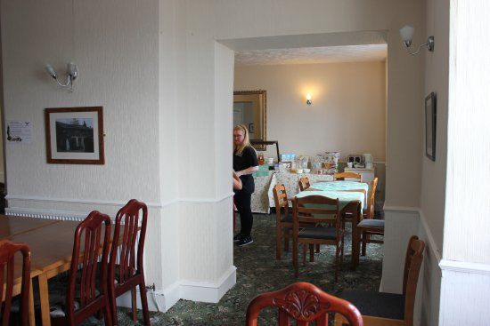 Llan Ffestiniog, UK : The dining area where breakfast is served.