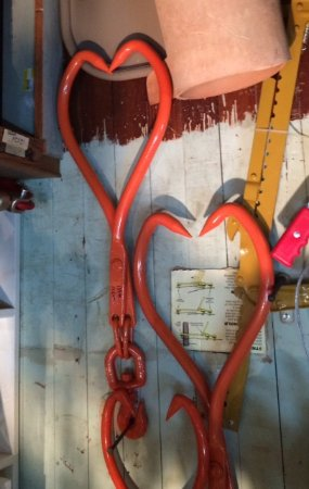 Natchitoches, LA: Flipped photo of hook hearts!
