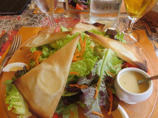 Restaurant Les bles d'or : Goat cheese salad