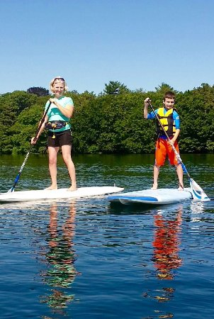 Osterville, MA: Paddle boarding is so relaxing and easy!