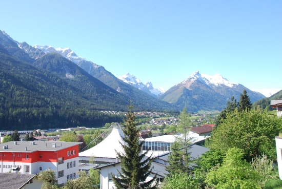 Fulpmes, Austria: View to the end of the valley from near the hotel