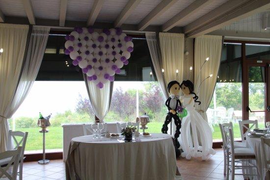 San Martino al Cimino, Italia: Tavolo degli sposi all'interno della sala