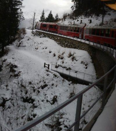 Bernina Pass: já no alto com neve