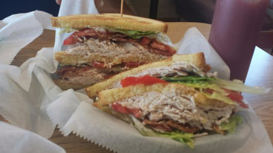 Betterton, MD: Turkey Club. Enormous and very tasty! Fresh veggies and lots of turkey and bacon.