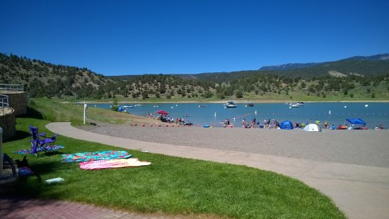 Ridgway State Park: This shot is half of the beach as you can see not overly crowded.