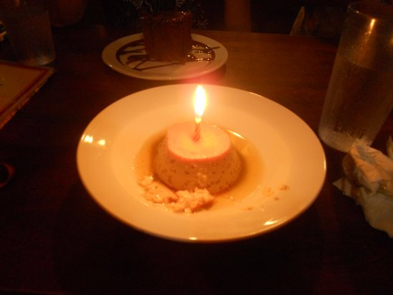 Pahoa, HI: flan they put a candle in it and sang happy birthday