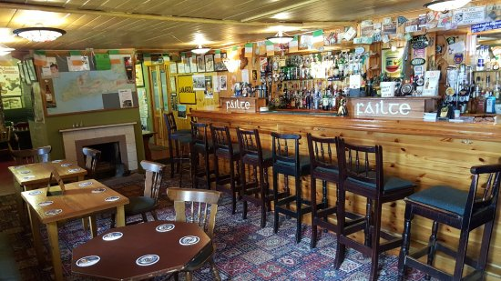 This is the pub inside O'Connor's Guesthouse, Cloghane, Dingle Peninsula.